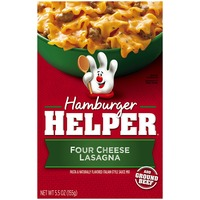 Betty Crocker Four Cheese Lasagna Hamburger Helper