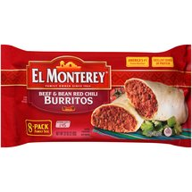 El Monterey Beef & Bean Red Chili 8 pk Burritos