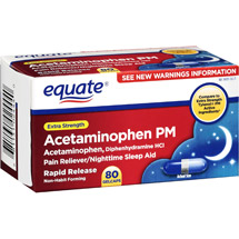 Equate Pain Reliever PM Extra Strength Gelcaps Nighttime Sleep Aid/Pain Reliever