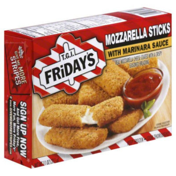 T.G. I. Friday's with Marinara Sauce Mozzarella Sticks