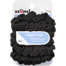 Scunci Effortless Beauty Mixed Knits Hair Ties