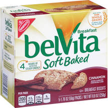 BelVita Soft Baked Cinnamon Breakfast Biscuits