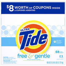 Ultra Tide Free & Gentle Powder Laundry Detergent