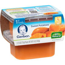 Gerber 1st Foods Sweet Potatoes Baby Foods