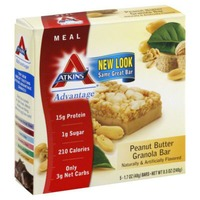 Atkins Peanut Butter Granola Meal Bars