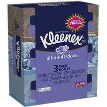 Kleenex Facial Tissues Ultra Soft & Strong Pack of 3 (Designs May Vary)