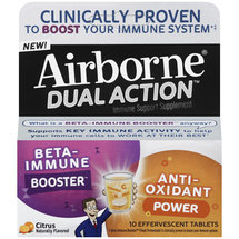 Airborne Dual Action Immune Support Citrus Flavored Effervescent Tablets