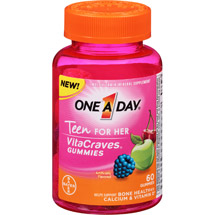 One A Day Teen for Her VitaCraves Multivitamin/Mineral Supplement Gummies