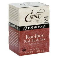 Choice Organic Herbal Tea Rooibos Tea Bags - 16 CT