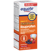 Equate Children's Ibuprofen Berry Flavor Oral Suspension Pain Reliever/Fever Reducer