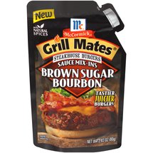 McCormick Grill Mates Steakhouse Burgers Sauce Mix-Ins Brown Sugar Bourbon Seasoning