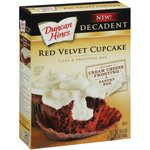 Duncan Hines Decadent Red Velvet Cupcake Cake ; Frosting Mix