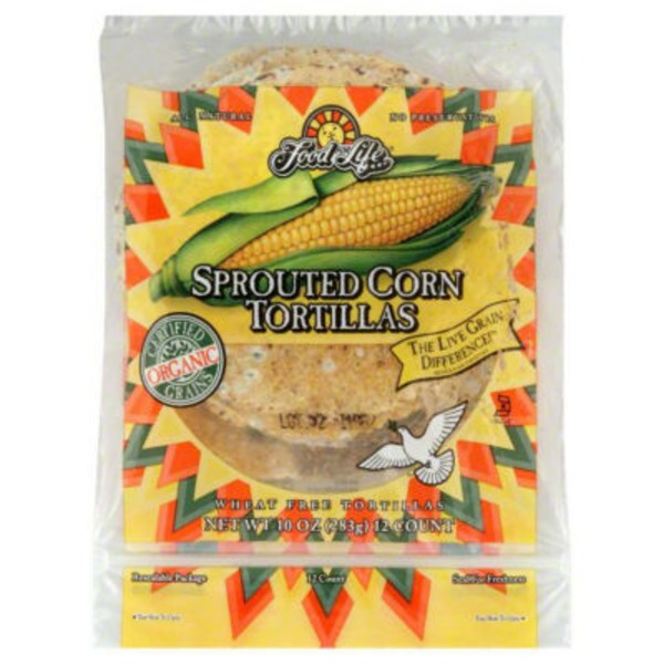 Food for Life Tortillas, Wheat Free, Sprouted Corn