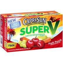CapriSun Super V Fruit Punch Fruit & Vegetable Juice Drink