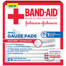Band-Aid Sterile Gauze Pads Small