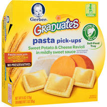 Gerber Graduates Pasta Pick-Ups Sweet Potato & Cheese Ravioli in Mildly Sweet Sauce
