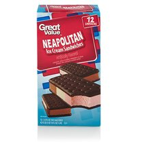 Great Value Neapolitan Ice Cream Sandwiches