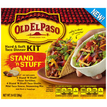 Old El Paso Stand 'n Stuff Hard & Soft Taco Dinner Kit