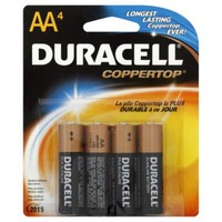 Duracell Coppertop AA Alkaline Batteries 4 count Primary Major Cells