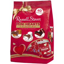 Russell Stover Mini Hearts 3 Flavor Mix Valentine's Candy