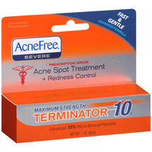 AcneFree Maximum Strength Terminator 10 Acne Spot Treatment + Redness Control Medicine