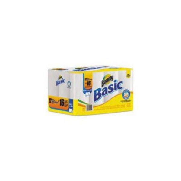 Bounty Basic Basic Bounty Basic Select-A-Size Paper Towels, White, 12 Big Rolls = 16 Regular Rolls Towels/Napkins