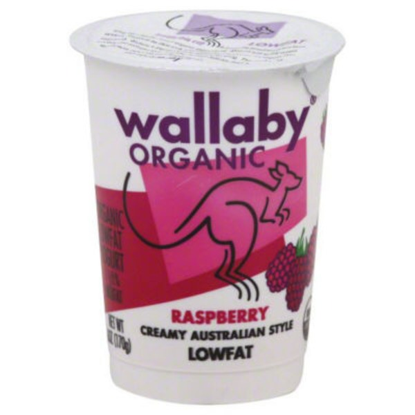 Wallaby Organic Organic Raspberry Lowfat Yogurt