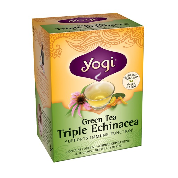 Yogi Green Tea, Triple Echinacea, Bags