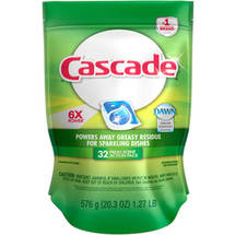 Cascade Actionpacs With Dawn Dishwasher Detergent