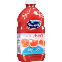 Ocean Spray Light Ruby Red Grapefruit Juice 64 Fl Oz