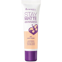 Rimmel London Stay Matte Liquid Mousse Foundation 091 Light Ivory