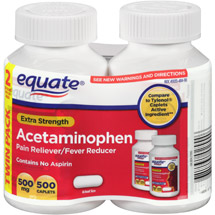 Equate Extra-Strength Acetaminophen Pain Reliever/Fever Reducer