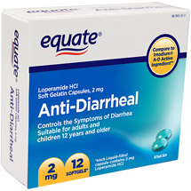 Equate Anti-Diarrheal Soft Gelatin Capsules