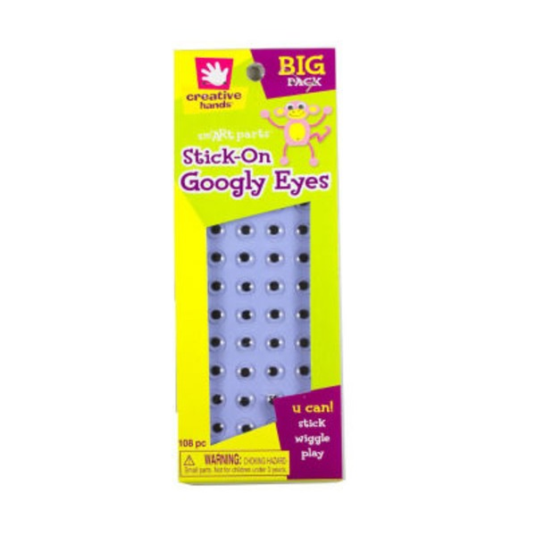 Creative Hands Stick On Googly Eyes