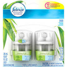 Febreze NOTICEables Meadows & Rain Air Freshener Refill (2 Count; .879 Fl oz each)