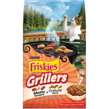 Friskies Dry Grillers' Tender and Crunchy Cat Food