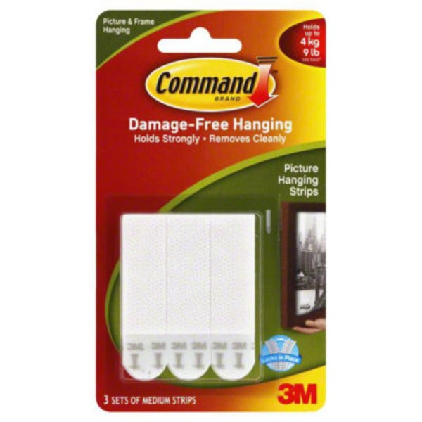 3m Command Damage-Free Hanging Picture Hanging Strips - 3 CT