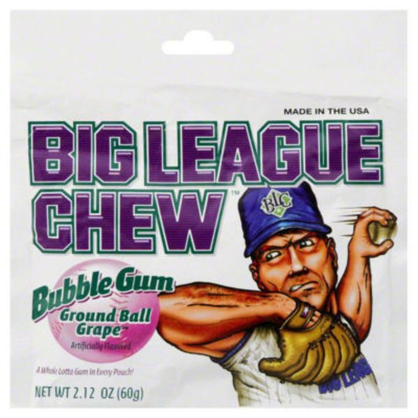 Big League Chew Ground Ball Grape Bubble Gum