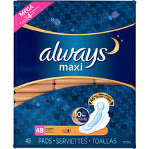 Always Unscented Overnight Maxi Pads with Wings