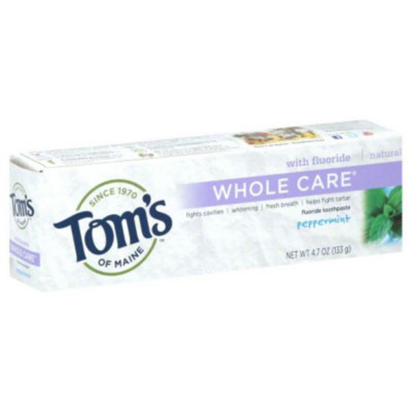 Tom's of Maine Whole Care Peppermint Toothpaste