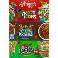 Kellogg's Tri Fun Pack Fruit Loops, Cocoa Krispies; Apple Jacks