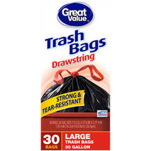 Great Value Drawstring Large Trash Bags