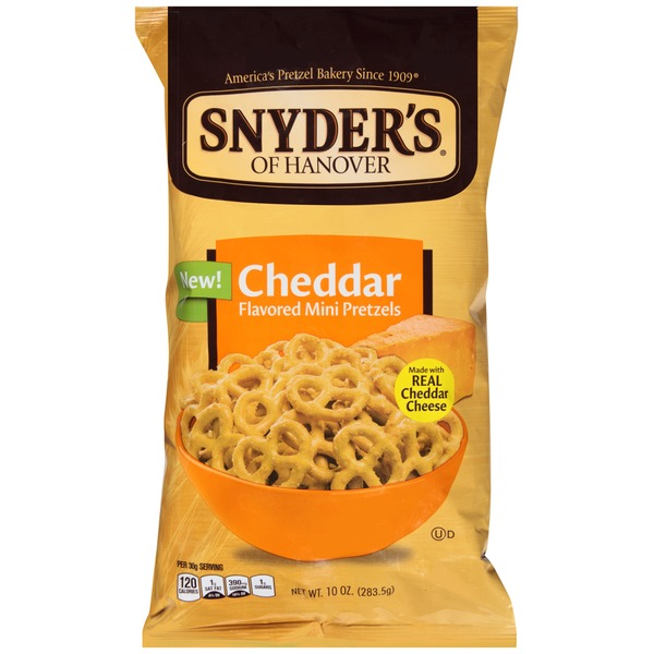 Snyder's of Hanover Cheddar Flavored Mini Pretzels