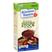 Kitchen Basics Unsalted Vegetable Stock for Cooking