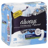 Always Discreet Always Discreet, Incontinence Pads, Ultimate, Long Length, 27 Count Feminine Care