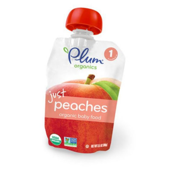 Plum Organics Just Peaches Stage 1 Baby Food