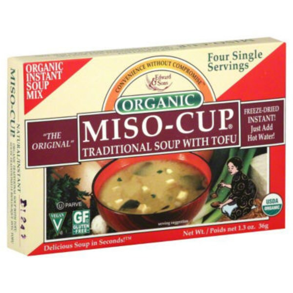 Edward & Sons Edward & Sons Miso-Cup Organic Traditional Soup with Tofu - 4 CT