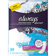 Always Discreet Maximum Long Length Pads Long Length