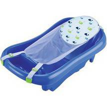The First Years Newborn-to-Toddler Tub with Sling Blue