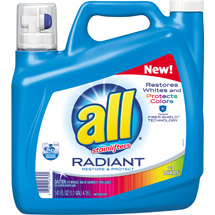 All with Stainlifters Radiant Restore & Protect Liquid Laundry Detergent